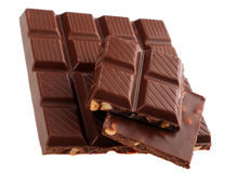 Chocolate with nut Royalty Free Stock Photos
