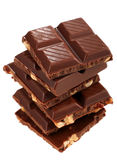 Chocolate with nut Stock Photography
