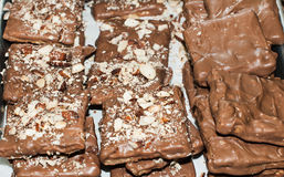 Chocolate and Nut Bar Royalty Free Stock Photo
