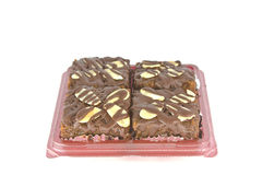 Chocolate Nut Brownies Royalty Free Stock Photos