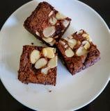 Chocolate Nut Brownies Royalty Free Stock Photo