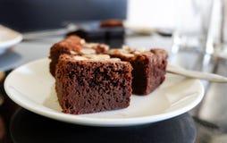 Chocolate Nut Brownies Stock Photo