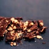 Chocolate / Nut Chocolate bar / chocolate background Stock Image