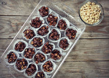 Chocolate Nut Clusters Stock Photos