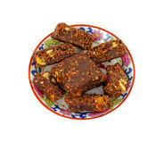 Chocolate and Nut Energy Bar Royalty Free Stock Images