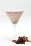 Chocolate nut-flavoured smoothie Royalty Free Stock Photos
