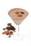 Chocolate nut-flavoured smoothie Royalty Free Stock Photo
