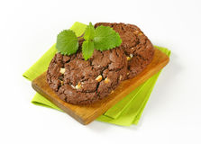 Chocolate nut fudge cookies Royalty Free Stock Images