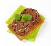 Chocolate nut fudge cookies Royalty Free Stock Image