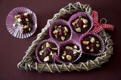 Chocolate and Nut Treat - Above Stock Photo