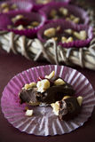 Chocolate and Nut Treat - Selective Focus Vertical Stock Image
