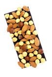 Chocolate and Nuts Stock Images