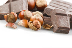 Chocolate with nuts Royalty Free Stock Photography