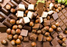 Chocolate & Nuts Royalty Free Stock Photography