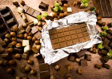 Chocolate & Nuts Stock Image