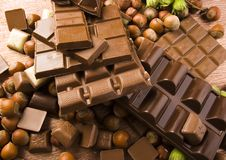 Chocolate & Nuts Royalty Free Stock Image