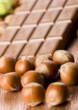 Chocolate & Nuts Stock Photos
