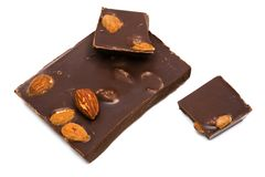 Chocolate with nuts Royalty Free Stock Images