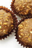 Chocolate and nuts balls Royalty Free Stock Photography