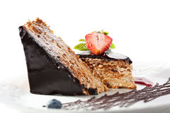 Chocolate Nuts Cake Royalty Free Stock Photography