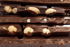 Chocolate with nuts. Close-up Royalty Free Stock Photography