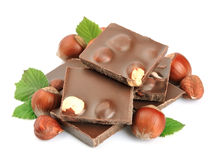 Chocolate with nuts Royalty Free Stock Image