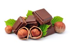 Chocolate with nuts closeup Royalty Free Stock Image