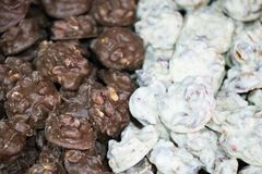 Chocolate and nuts. royalty free stock image