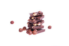 Chocolate with nuts Stock Photo