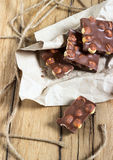 Chocolate nuts Stock Photography