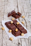 Chocolate and nuts Stock Image