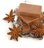 Chocolate,nuts and spice Royalty Free Stock Photos