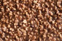Chocolate with nuts texture Stock Photos