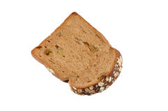 Chocolate and oat bread. An isolate object Stock Photography