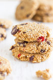 Chocolate Oatmeal Cookies. Flourless Chocolate Oatmeal Cookies are an excellent treat for those who are looking for a healthier alternative to sweets Royalty Free Stock Photos
