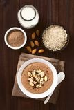 Chocolate Oatmeal or Oat Porridge Stock Photography