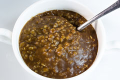 Chocolate oatmeal Stock Photo
