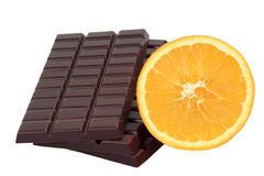 Chocolate with Orange Royalty Free Stock Images