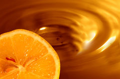 Chocolate orange background Royalty Free Stock Photos