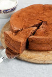 Chocolate orange cake Royalty Free Stock Photography