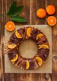 Chocolate orange cake Stock Image
