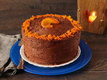 Chocolate orange cake Stock Photo