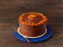 Chocolate orange cake Royalty Free Stock Photo