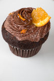 Chocolate and orange cupcake Royalty Free Stock Images