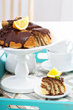 Chocolate orange marble cake Royalty Free Stock Photography