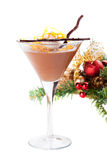 Chocolate orange mousse with zephyr and grated orange zest Royalty Free Stock Image