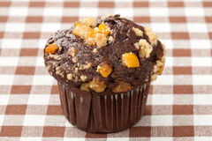 Chocolate orange muffin Stock Photo
