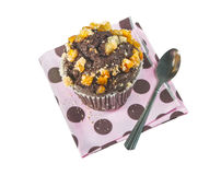 Chocolate orange muffin Royalty Free Stock Images