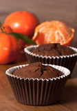 Chocolate Orange Muffins Royalty Free Stock Photos
