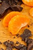 Chocolate and Orange Wedges Stock Photo